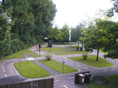 Gelände der Jugendverkehrsschule Esslingen