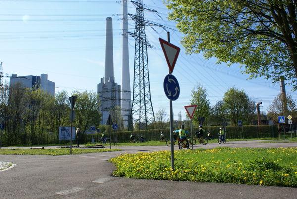 Jugendverkehrsschule Altbach auf dem Gelände der EnBW