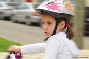 Kind mit Fahrrad